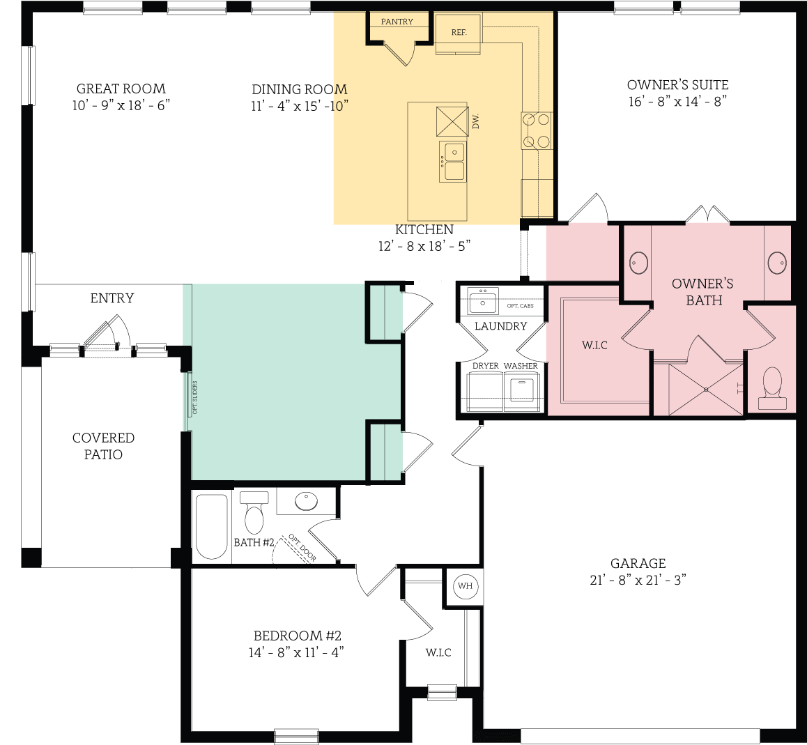 Floorplan for Amherst Regent